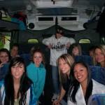 dans le bus vers Montréal